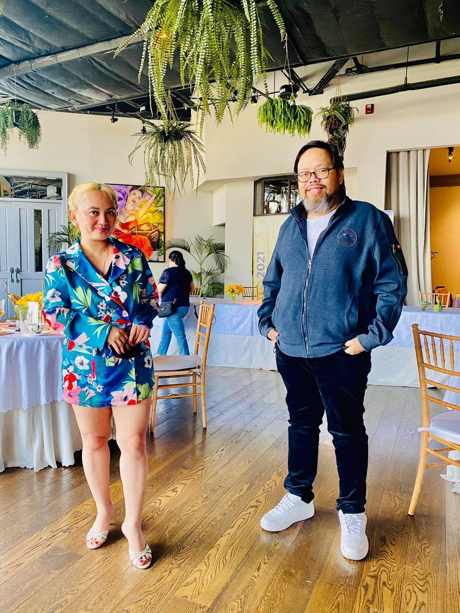 Grace Bondad Nicolas and Comelec Spokesman James Jimenez